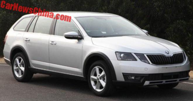 First Photos Of The China-made 2017 Skoda Octavia Scout