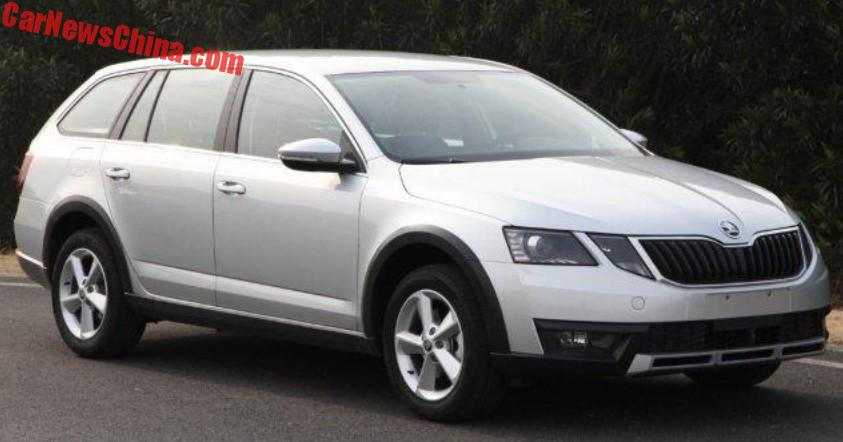 first photos of the china made 2017 skoda octavia scout. Black Bedroom Furniture Sets. Home Design Ideas