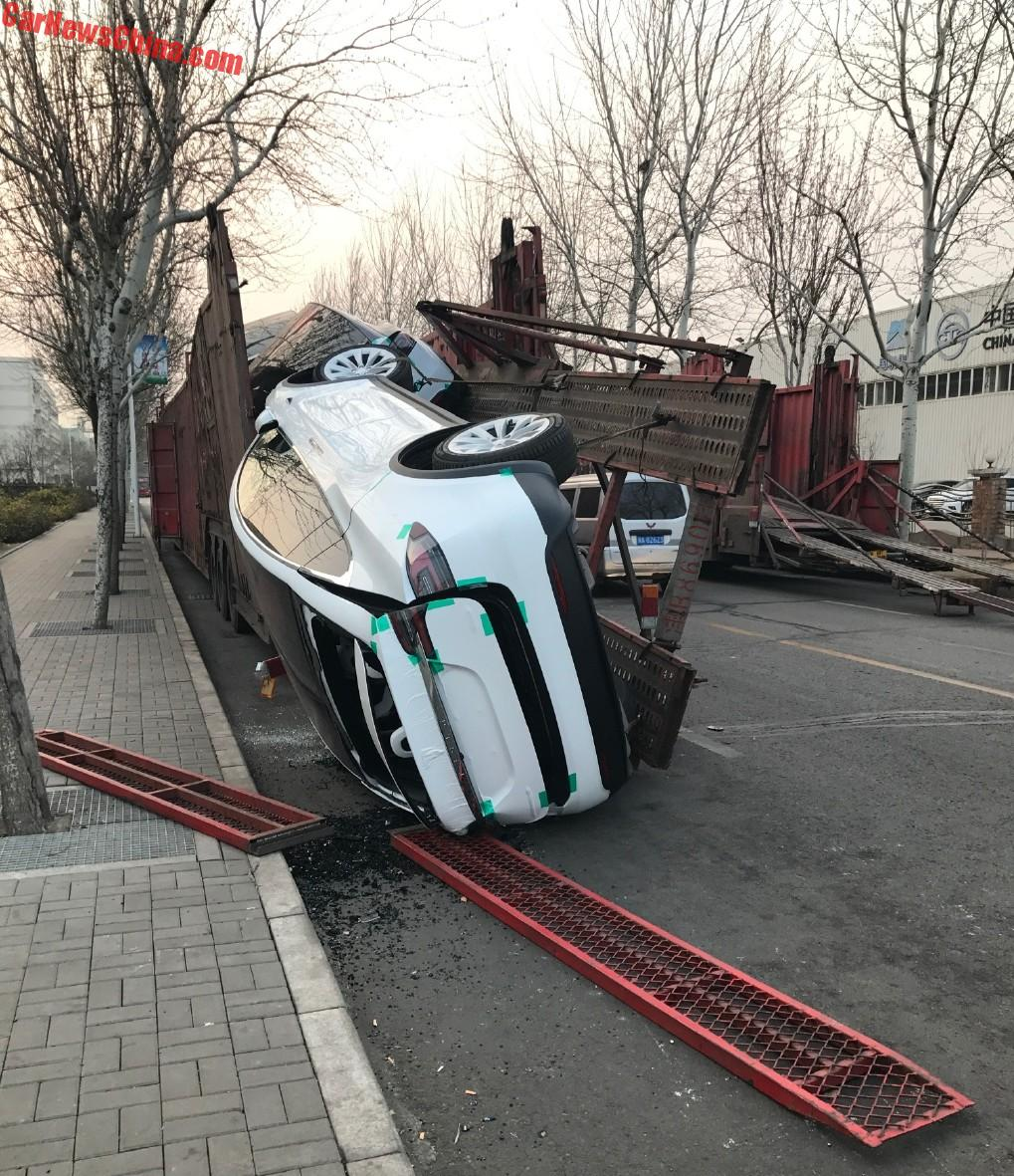 Two Tesla Model X Destroyed In Transport Accident In China
