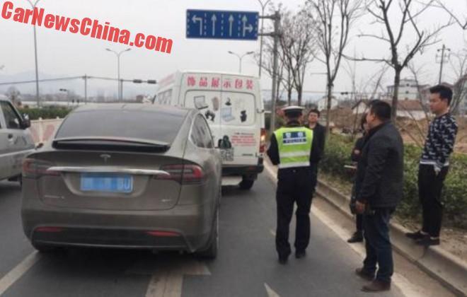Tesla Model X Hits Van In China, Autopilot Blamed
