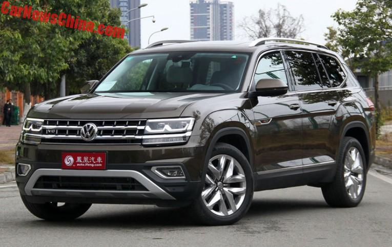 The Volkswagen Teramont Suv Will Hit The Chinese Car