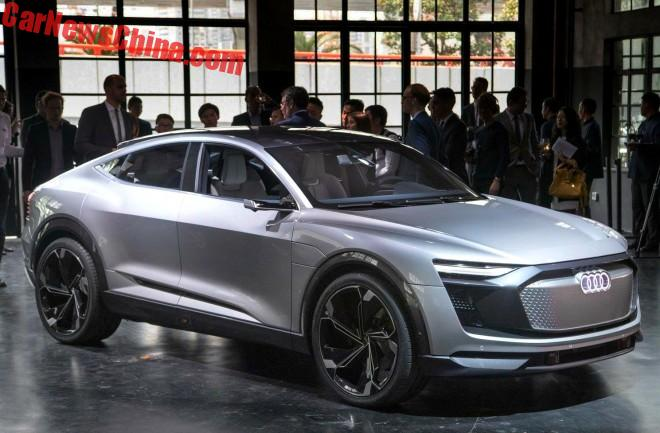 audi e tron sportback concept launched on the shanghai auto show in china. Black Bedroom Furniture Sets. Home Design Ideas