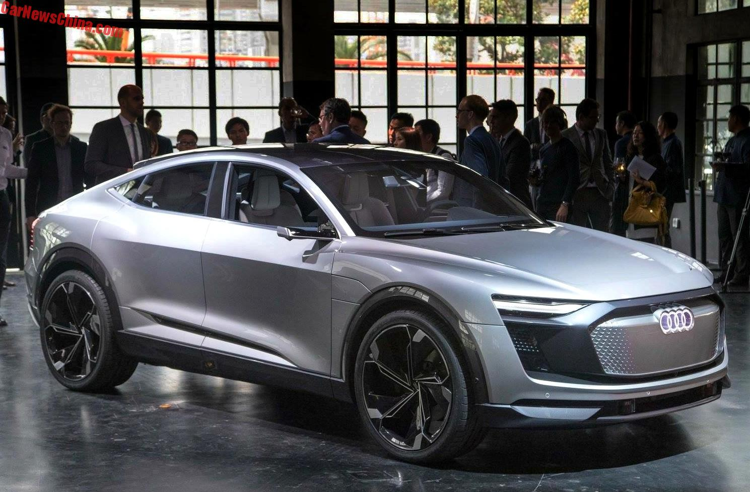Audi Etron Sportback Concept Launched On The Shanghai Auto Show In - Audi e car