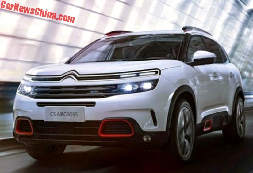 official the new citroen c5 aircross suv for china. Black Bedroom Furniture Sets. Home Design Ideas