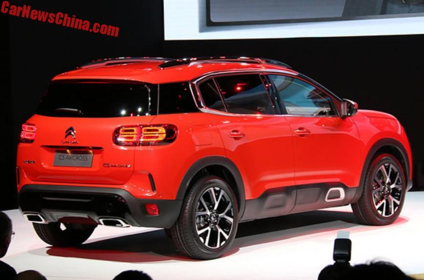Citroen C5 Aircross Suv Unveiled In Shanghai China