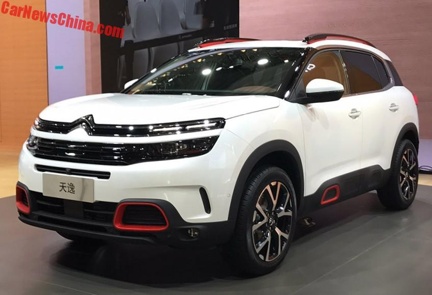 citroen c5 aircross suv unveiled in shanghai china. Black Bedroom Furniture Sets. Home Design Ideas