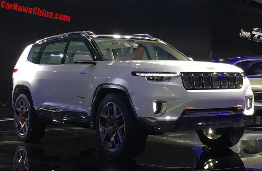 Delightful The Jeep Yuntu Concept Is A Big 6 Seat SUV For China