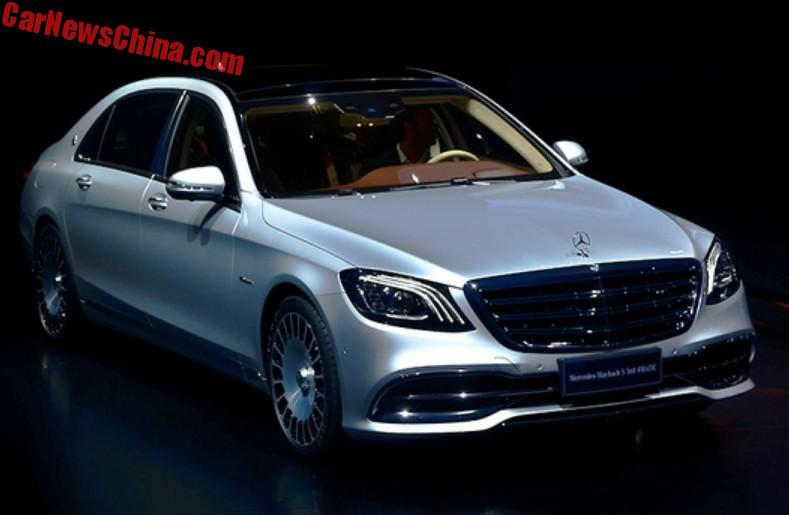 mercedes-maybach s680 and s560 launched on the shanghai auto show in