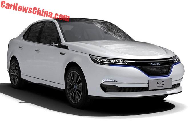 Nevs Has Released Official Images Of The 9 3 And 3x Concept Cars Previewing An Electric Sedan Wagon Both Based On Last Generation Saab